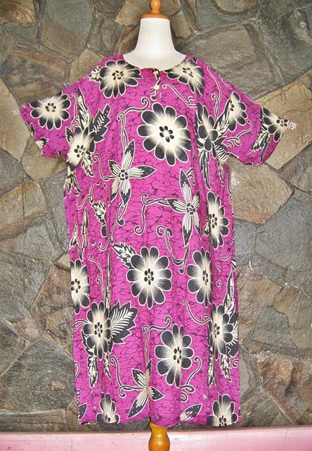 GROSIR DASTER MURAH Batik  Daster Ibu JUmbo Lengan Pendek L5